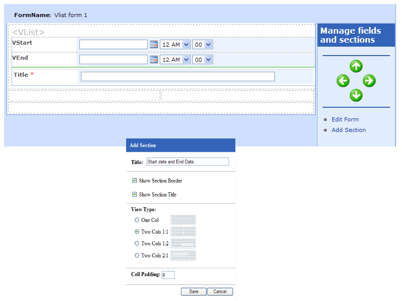 List Form Designer - Creating list forms for SharePoint lists