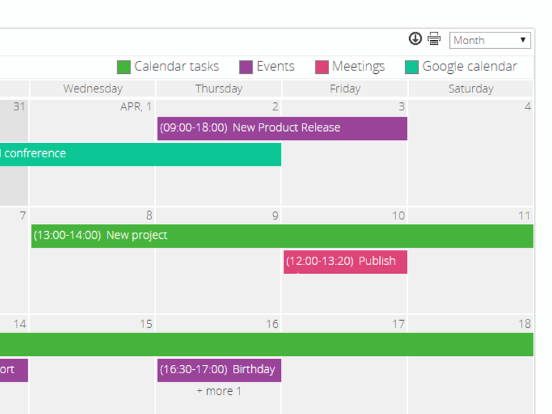 Calendar Web Part - Manage events from different data sources in one calendar