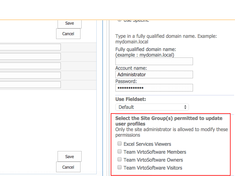 AD User Profile Service - High-level Security of your Sharepoint environment
